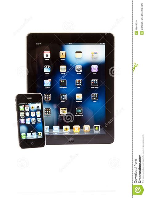 Tablet Apple Iphone apple tablet pc with iphone editorial stock image