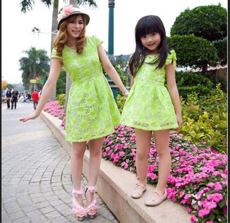 Baju Ibu Anak Perempuan Dres Merah Imlek Dres Pasangan model baju ibu dan anak perempuan
