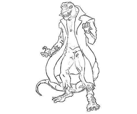 lizard villain coloring pages the amazing spider man lizard character yumiko fujiwara