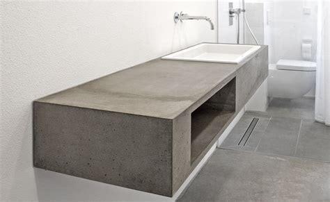 Badezimmer Unterschrank Betonoptik by Waschtisch Aus Beton Design Pinte