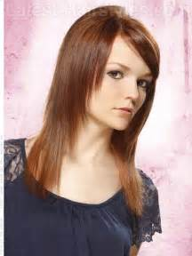 hair with wispy front and sides tapered straight hair only layered in front with side