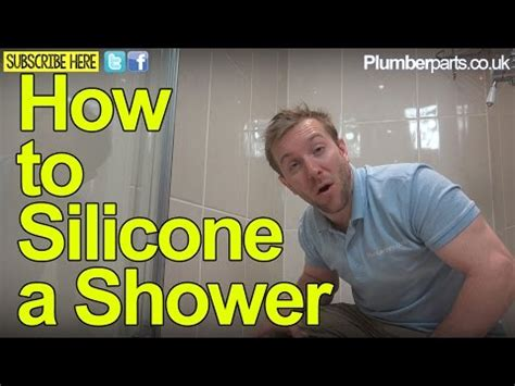 how to silicone a shower tray repair sealant plumbing