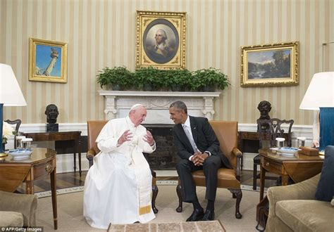 inside the oval office pope francis gives his first mass in america in latin