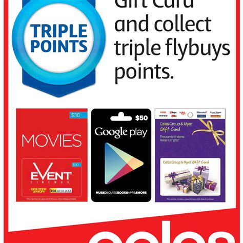 Rebel Gift Card Coles - buy any gift card at coles and get triple flybuys points ozbargain