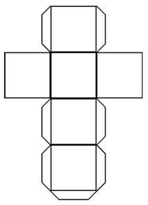 make a template diy paper cube calendar