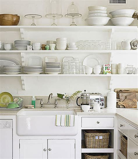 Open Kitchen Shelving Uk Ways To Make A Small Kitchen Feel Bigger By Carole Poirot