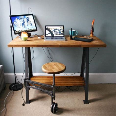 industrial stand up desk 97 best reclaimed wood desk images on