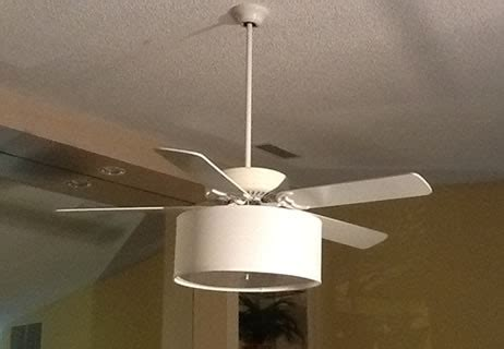 ceiling fan with drum shade light ceiling fan linen drum shade light kit s t lighting llc