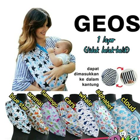 Geos Gendongan Kaos My Baby Pouch jual geos motif gendongan kaos dita gendongan bayi