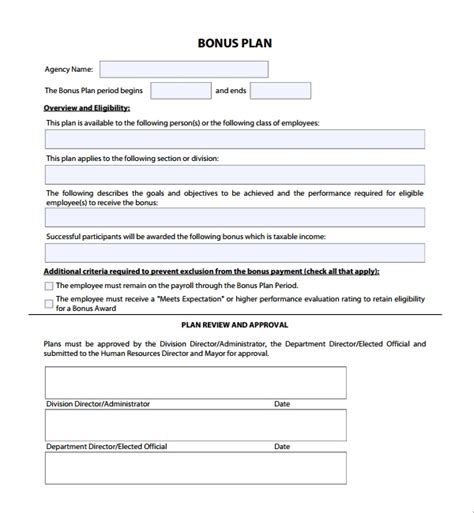 Sle Bonus Plan Template 7 Free Documents In Pdf Incentive Plan Template For Sales
