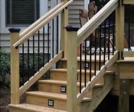 installing handrails on deck stairs deck stair railings decks