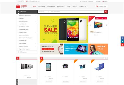 shoppystore premium responsive multipurpose opencart theme