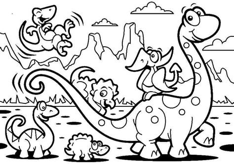 Amusing Printable Dinosaur Coloring Pages 16 In Seasonal