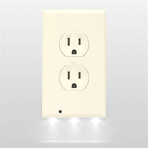 receptacle night light cover snappower guidelight outlet wall plate with led night
