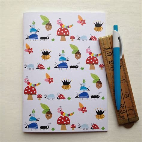 pattern notebook set assorted designs bug pattern notebook set by halfpinthome