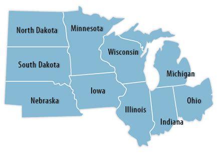 us map midwest region midwestern region gallery