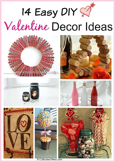 Small Home Decor Ideas by 14 Easy Diy Valentine S Day Decoration Ideas