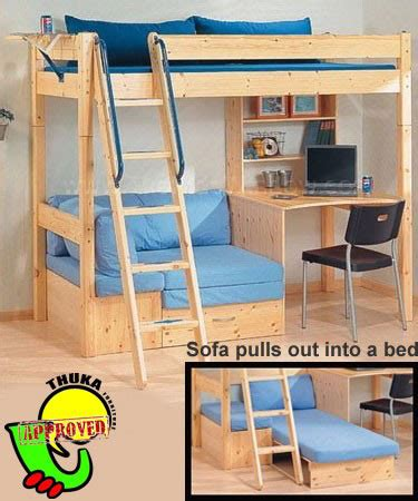 loft bed with desk and couch thuka maxi sofa beds