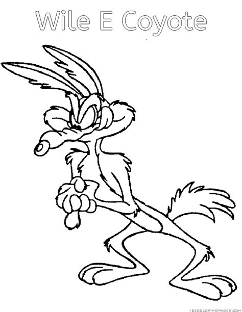 Wile Coyote And Road Runner Coloring Pages Part 2 Wile E Coyote Coloring Pages