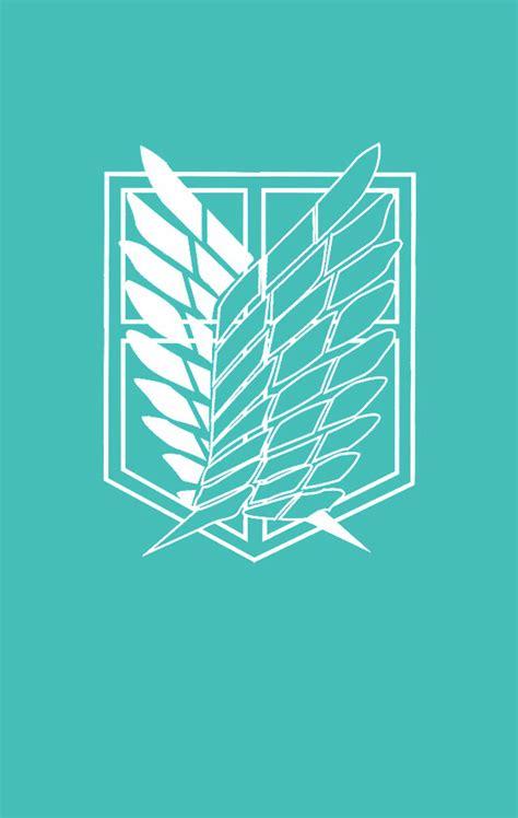Kaos Anime Snk Recon Corps Navy scouting legion logo mint wallpaper attack on titan