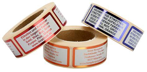 Etiketten Auf Rolle Bestellen by Luxus Etiketten