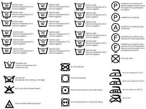 Care Symbols Vector Download Free Vector Art Free Vectors Wash Care Label Template
