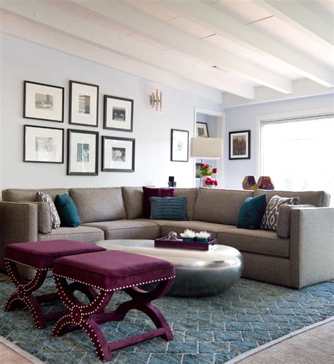 teal plum living room