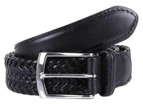 dents plaited leather belt
