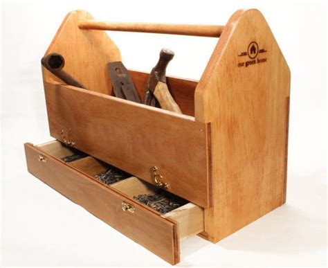 large wooden tool box wood      garden