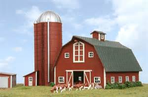 barn with silo n scale structure kits