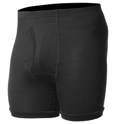 Boxer Cool Black 100 merino wool s lightweight black boxer underpant fly cool in warm