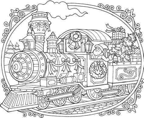 coloring pages christmas train 12 christmas drawing download ty