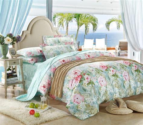 Mint Green Comforter Set by 100 Cotton Luxury Mint Green Paisley Bedding Set