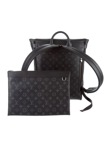 louis vuitton  monogram eclipse steamer backpack