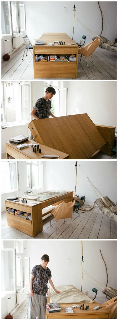 desk transforms into bed 25 best ideas about space saving bedroom on