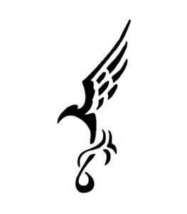 stencil tribal bird