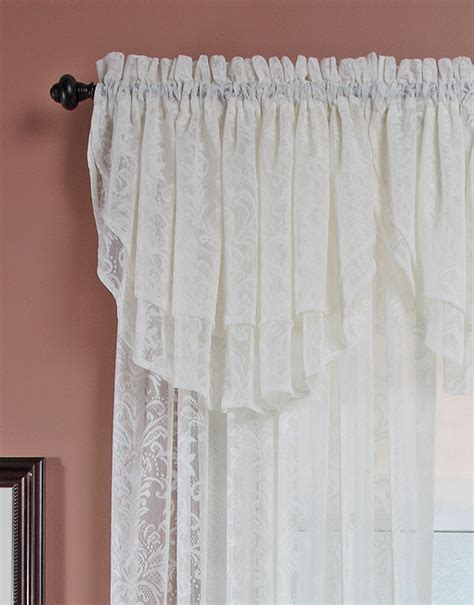 Ascot Valance Decorative Lace Layered Ascot Valance Renaissance