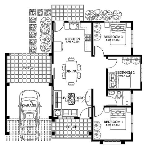 Modern Home Floor Plans Designs | small modern house designs and floor plans cottage house