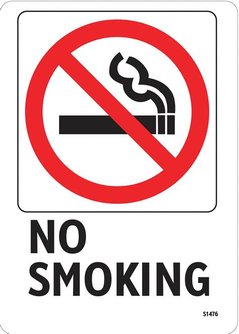 no smoking sign with fine electromark no smoking sign 7 x 5in r and bk wht eng