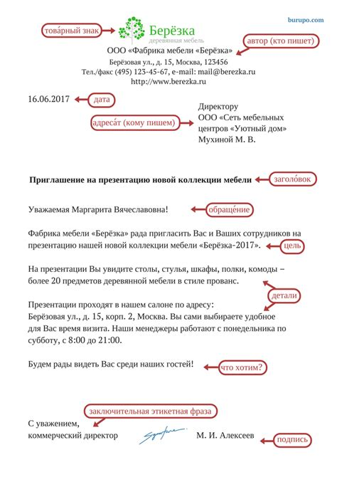types structure and layout of business letter business letter in russian structure russian for life