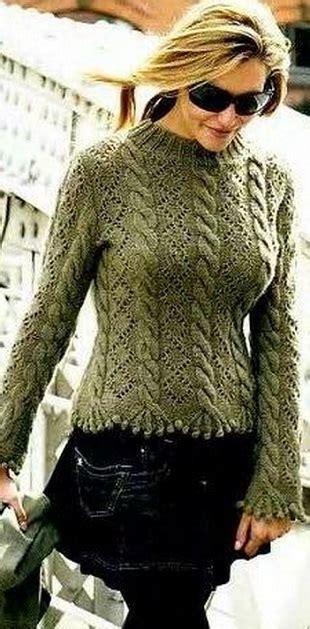 Вязанный свитер соты