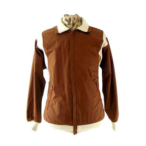 Jaket Zipper Cloud 9 Putih 80s brown zipper jacket blue 17 vintage fashion