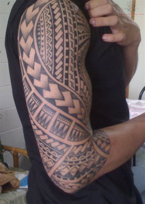 samoan full sleeve tattoo designs images designs