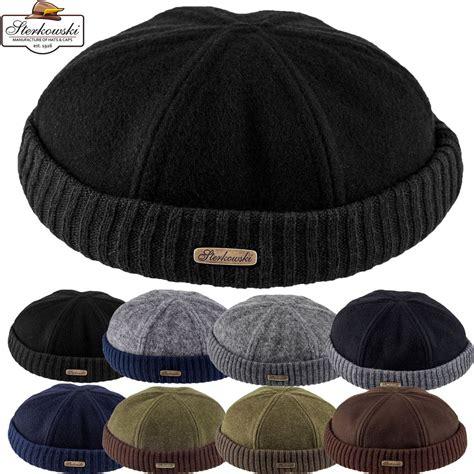 sailor knit cap woolen cloth navy cap winter docker hat