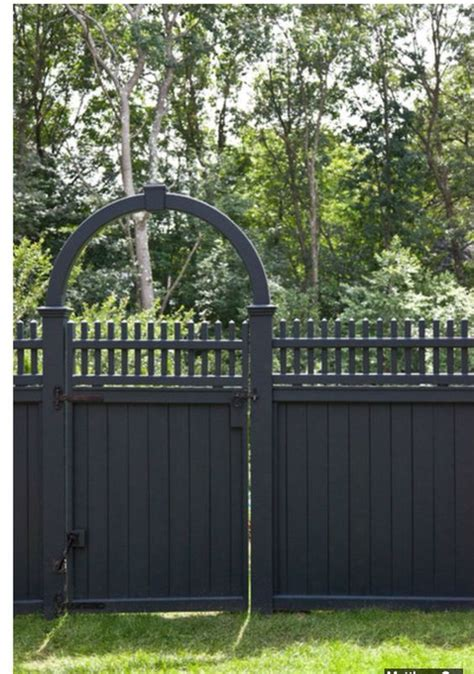 grey painted fence garden fence design grey and design