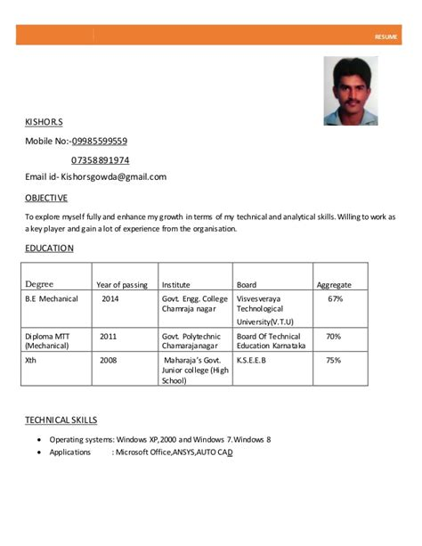Resume Sample Profile by Normal Resume