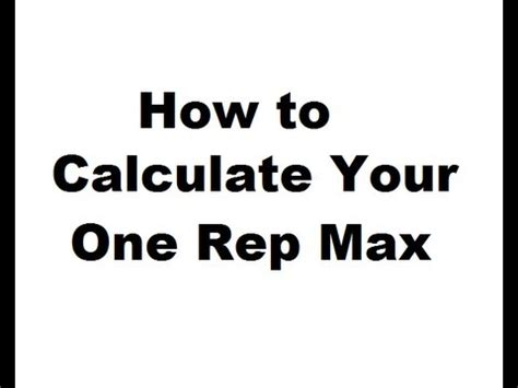 how to calculate bench max how to calculate your one rep max