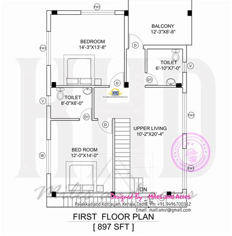 kerala home plan elevation and floor plan 2254 sq ft drawings of house plans in kerala house design plans