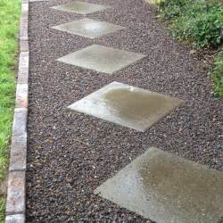 gravel stones pavers brick walkway urban landscape