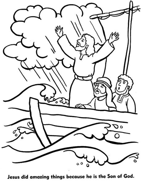 coloring page of jesus calming the sea 24 page jpg storms calming and sunday school